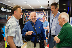 Zeljko Dragsic, Mirko Novosel and Predrag Bogosavljev at FIBA Basketball World Cup Spain 2014 Trophy Tour, on June 22, 2014 in Ban Jelacic Square, Zagreb, Croatia. Photo By Vid Ponikvar / Sportida