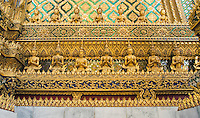 Exterior of Temple of the Emerald Buddha Wat Phra Kaew near Royal Grand Palace Bangkok Thailand&#xA;<br />