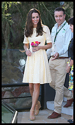 The Duchess of Cambridge arriving to watch a bird display at Taronga Zoo in Sydney, Australia, Sunday, 20th April 2014. Picture by Stephen Lock / i-Images