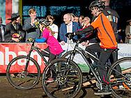 16-2-2016 - Ossendrecht - Arrival at the southwest corner College (College Cycling) Guided tour of the school by cycling talent - Thalita de Jong and Mathieu van der Poel (also Dutch Champion Cyclo). King Willem-Alexander and Queen Maxima spend Tuesday, February 16th, 2016 a regional visit to West-Brabant and around the Brabantse Wal. They visit successively municipalities Woensdrecht, Bergen op Zoom and Rucphen. During the visit are the social and economic resilience and administrative cooperation in the region of Central. copyright Robin Utrecht<br /> 16-2-2016 - OSSENDRECHT -  Aankomst bij het Zuidwesthoek College (Wielercollege) Rondleiding door de school door wielertalenten: - Thalita de Jong en Mathieu van der Poel (eveneens Nederlands Kampioen Veldrijden).  Koning Willem-Alexander en Koningin Maxima brengen dinsdag 16 februari 2016 een streekbezoek aan West-Brabant op en rond de Brabantse Wal. Ze bezoeken achtereenvolgens de gemeenten Woensdrecht, Bergen op Zoom en Rucphen. Tijdens het bezoek staan de sociale en economische veerkracht en de bestuurlijke samenwerking in de regio centraal . copyright robin utrecht
