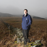 Highland Spring....22.01.08<br /> Bryan McCluskey, Technical Manager at Highland Spring pictured at the foot of the Ochils where the water comes from.<br /> Picture by Graeme Hart.<br /> Copyright Perthshire Picture Agency<br /> Tel: 01738 623350  Mobile: 07990 594431