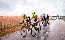 07.07.2019, Wels, AUT, Ö-Tour, Österreich Radrundfahrt, 1. Etappe, von Grieskirchen nach Freistadt (138,8 km), im Bild v.l.: Roberto Gonzalez (Neri Selle Italia KTM, PNM), Dominik Hrinkow (Hrinkow Advarics Cycleang, AUT) // during 1st stage from Grieskirchen to Freistadt (138,8 km) of the 2019 Tour of Austria. Wels, Austria on 2019/07/07. EXPA Pictures © 2019, PhotoCredit: EXPA/ JFK