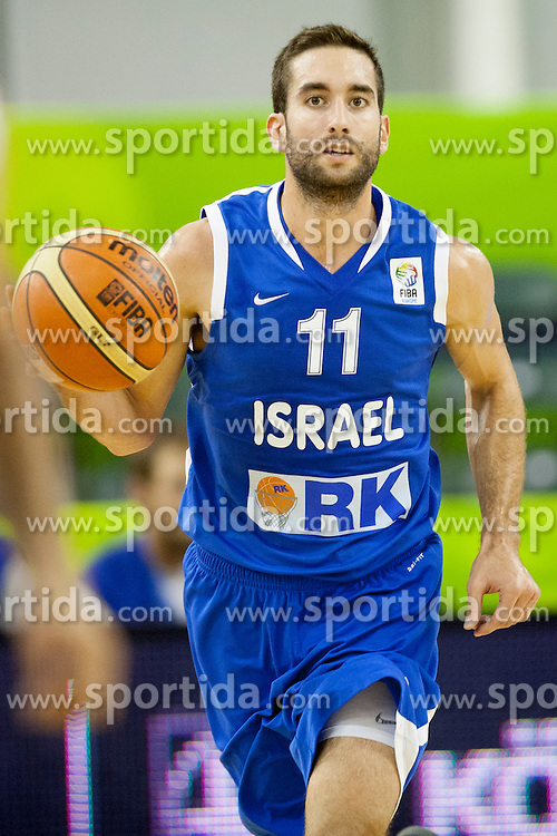 Yogev Ohayon #11 of Israel during basketball match between National teams of France and Israel at Day 3 of Eurobasket 2013 on September 6, 2013 in Tivoli Hall, Ljubljana, Slovenia. (Photo By Urban Urbanc / Sportida )