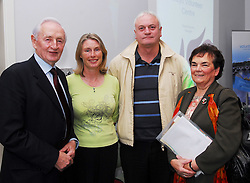 Pictured at the launch of the Mayo Volunteer Centre were Terry Gallagher, Moy Valley Rescource Centre, Margaret Moyles, Brendan Sammon Tochair Valley Network and Sr Maureen McHale Tochair Valley Network...Pic Conor McKeown