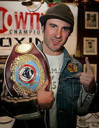 WBO Super Middleweight Champion Joe Calzaghe during the press conference announcing his upcoming superfight against IBF/IBO Super Middleweight Champion Jeff Lacy.  The two champs will unify the titles on Saturday, March 6 at the M.E.N Arena in Manchester, England.