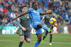 December 15, 2018 - Getafe, Madrid, Spain - Djene of Getafe in action during La Liga Spanish championship, , football match between Getafe and Real Sociedad, December 15, in Coliseum Alfonso Perez in Getafe, Madrid, Spain. (Credit Image: © AFP7 via ZUMA Wire)