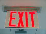Close up of an Exit sign.