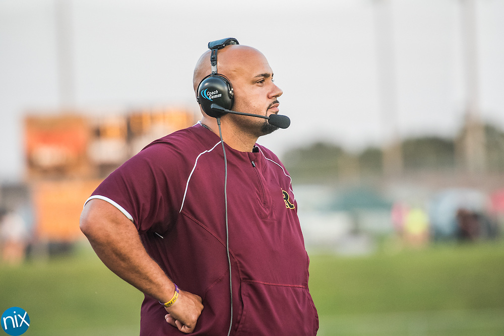 Jay M. Robinson head coach Joe Glass during a game against Hickory Ridge Monday night at Jay M. Robinson High School. Robinson won the game 41-27.
