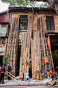 Bamboo street, Old Quarter, Hanoi, Vietnam