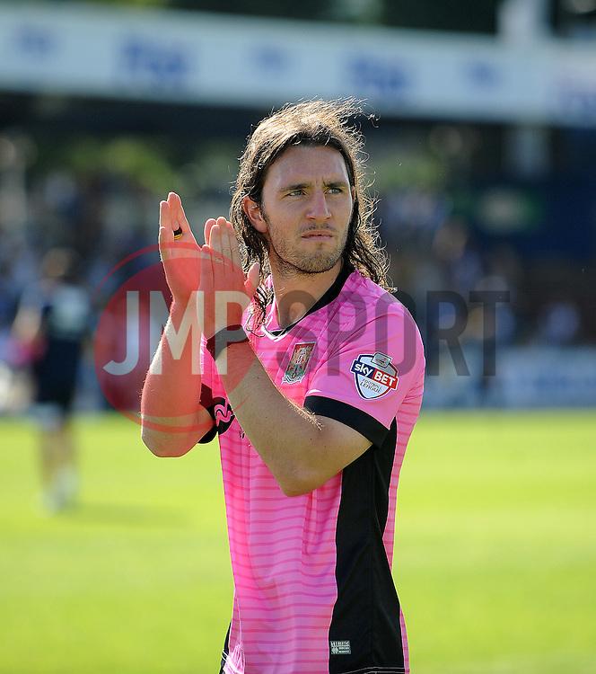 John-Joe O'Toole of Northampton Town applauds the Northampton Town fans - Mandatory byline: Neil Brookman/JMP - 07966386802 - 08/08/2015 - FOOTBALL - Memorial Stadium -Bristol,England - Bristol Rovers v Northampton Town - Sky Bet League Two