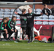 27th August 2017, Dens Park, Dundee, Dundee; Scottish Premier League football, Dundee versus Hibernian; Hibernian bos Neil Lennon
