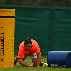 DURBAN, SOUTH AFRICA - SEPTEMBER 01: Frans Malherbe during the South African national rugby team training session at Peoples Park on September 01, 2015 in Durban, South Africa. (Photo by Steve Haag/Gallo Images)