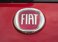 London, England - August 08, 2016: Fiat Car Badge, Fiat is an Italian Automobile manufacturer founded in 1899.
