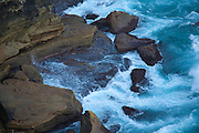 Wave crashing on rocks, Diamond Bay, Sydney