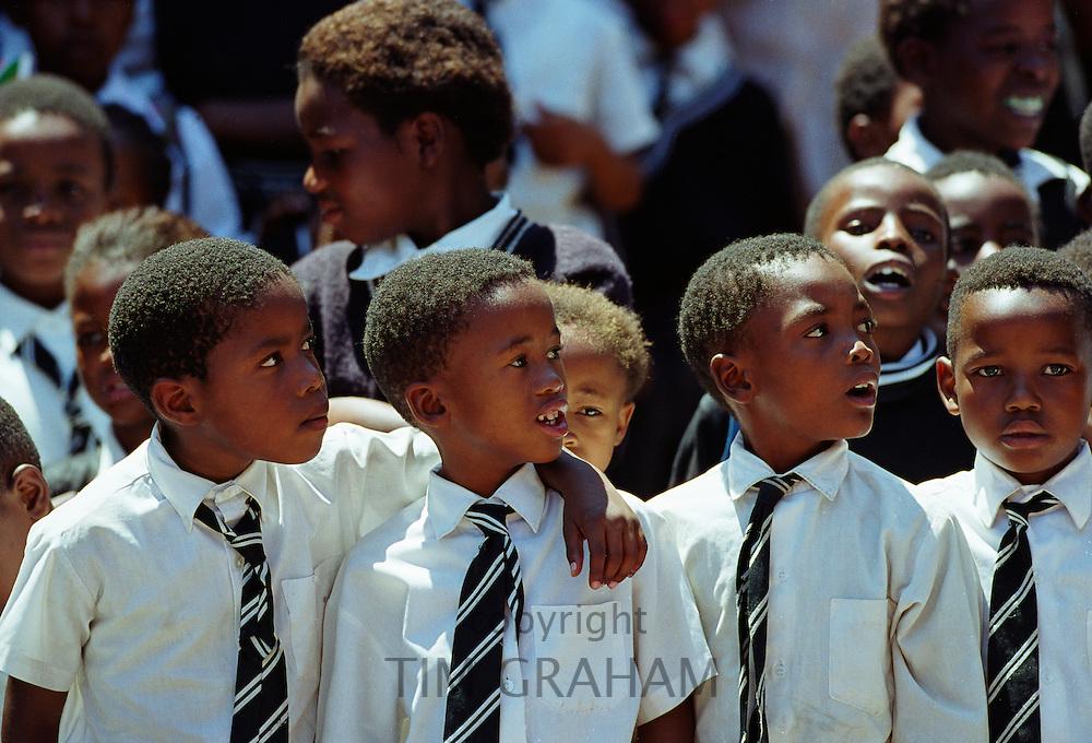 Schoolchildren in South Africa
