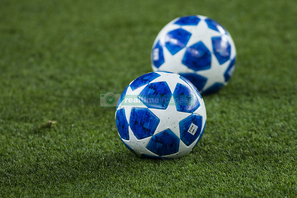 October 24, 2018 - Barcelona, Spain - UEFA Champions League official ball during the UEFA Champions League match between FC Barcelona v FC Internazionale Milano at Camp Nou Stadium, in Barcelona on 24 of October, 2018. (Credit Image: © Xavier Bonilla/NurPhoto via ZUMA Press)