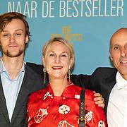 NLD/Amsterdam/20191007 De Belote van Pisa premiere, Christine van Stralen, partner en zoon
