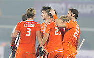 BHUBANESWAR  (INDIA)  -   Champions Trophy Hockey.  first goal of the Netherlands.