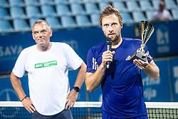 Tom Kocevar Desman winner of mens final of Zavarovalnica Sava tournament at ATP Challenger Zavarovalnica Sava Slovenia Open 2019, day 2, on August 10th 2019 in Sports centre, Portoroz/Portorose, Slovenia. Photo by Grega Valancic / Sportida