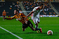 Milton Keynes Dons have a penalty appeal turned down as George Baldock of Milton Keynes Dons (right) is tackled by Billy Knott of Bradford City (left) during the Sky Bet League 1 match at stadium:mk, Milton Keynes<br /> Picture by David Horn/Focus Images Ltd +44 7545 970036<br /> 16/09/2014