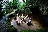 Edy Angely, Ursula Jahara & Manuela Mendonça at Parque Lage, Rio do Janeiro