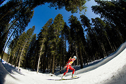 BERGER Tora of Norway competes during Women 10 km Pursuit competition of the e.on IBU Biathlon World Cup on Saturday, March 8, 2014 in Pokljuka, Slovenia. Photo by Vid Ponikvar / Sportida
