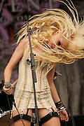 "Taylor Momsen and her band ""The Pretty Reckless,"" perform at Warped Tour 2010 held at the Ventura County Fairgrounds in Ventura, Calif., on Sunday, June 27, 2010. The teen star was seen dressed very provocatively and light up a cigarette on stage."