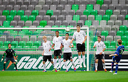 Julian Brandt of Germany, Marian Sarr of Germany, Said Benkarit of Germany, Niklas Suele of Germany, Pascal Itter of Germany vs Osvald Jarl Traustason of Iceland during the UEFA European Under-17 Championship Group A match between Iceland and Germany on May 7, 2012 in SRC Stozice, Ljubljana, Slovenia. (Photo by Vid Ponikvar / Sportida.com)