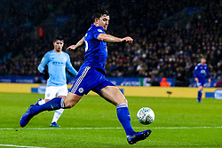 Harry Maguire of Leicester City - Mandatory by-line: Robbie Stephenson/JMP - 18/12/2018 - FOOTBALL - King Power Stadium - Leicester, England - Leicester City v Manchester City - Carabao Cup Quarter Finals