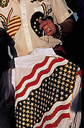 Image of patriotic clothing at the Santa Fe Rodeo, Santa Fe, New Mexico, American Southwest
