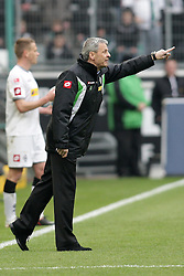 07.04.2012, Borussia-Park, Moenchengladbach, GER, 1. FBL, Borussia Moenchengladbach vs Hertha BSC, 29. Spieltag, im Bild Trainer Lucien Favre (Borussia Moenchengladbach), Freisteller // during the German Bundesliga Match, 29th Round between VBorussia Moenchengladbach and Hertha BSC at the Borussia Park, Moenchengladbach, Germany on 2012/04/07. EXPA Pictures © 2012, PhotoCredit: EXPA/ Eibner/ Oliver Vogler..***** ATTENTION - OUT OF GER *****