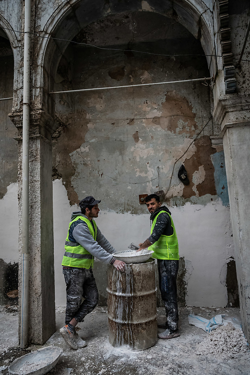 17 January 2019 – Mosul – Iraq – Work is underway to rehabilitate homes in West Mosul. UNDP's Funding Facility for Stabilization (FFS) is supporting the rehabilitation of ten thousand homes in West Mosul, helping displaced families return to their homes. <br /> <br /> © UNDP Iraq / Claire Thomas