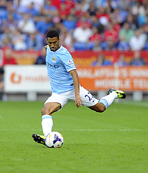 Manchester City's Gael Clichy  - Photo mandatory by-line: Joe Meredith/JMP - Tel: Mobile: 07966 386802 25/08/2013 - SPORT - FOOTBALL - Cardiff City Stadium - Cardiff -  Cardiff City V Manchester City - Barclays Premier League