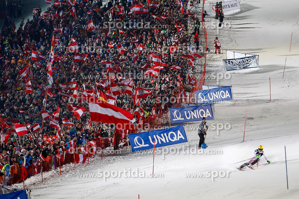 24.01.2011, Planai, Schladming, AUT, FIS World Cup Ski Alpin, Men, Slalom, im Bild // Fans beim Nightrace // during the men night slalom race at the FIS Alpine skiing World cup in Schladming, EXPA Pictures © 2011, PhotoCredit: EXPA/E. Scheriau