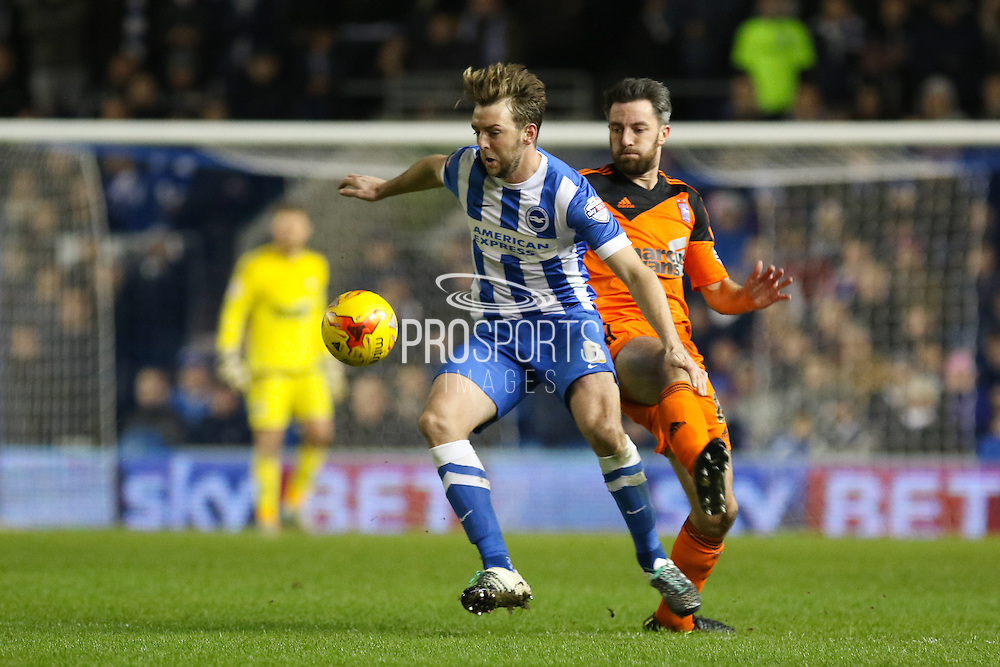 Brighton central midfielder, Dale Stephens (6) during the Sky Bet Championship match between Brighton and Hove Albion and Ipswich Town at the American Express Community Stadium, Brighton and Hove, England on 29 December 2015. Photo by Phil Duncan.