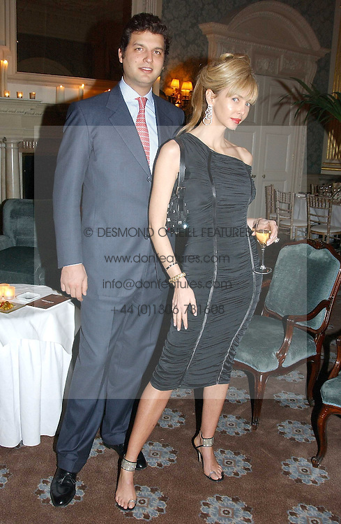 AMANDA CRONIN and PRINCE CASIMIR ZU SAYN-WITTGENSTEIN-SAYN at a dinner hosted by Krug champagne at Claridge's, Brooke Street, London on 14th February 2006.<br /><br />NON EXCLUSIVE - WORLD RIGHTS