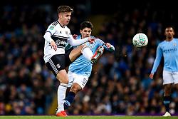 Tom Cairney of Fulham takes on Brahim Diaz of Manchester City - Mandatory by-line: Robbie Stephenson/JMP - 01/11/2018 - FOOTBALL - Etihad Stadium - Manchester, England - Manchester City v Fulham - Carabao Cup