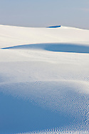 Sand textures and patterns are highlighted by the setting sun - White Sands National Monument, New Mexico