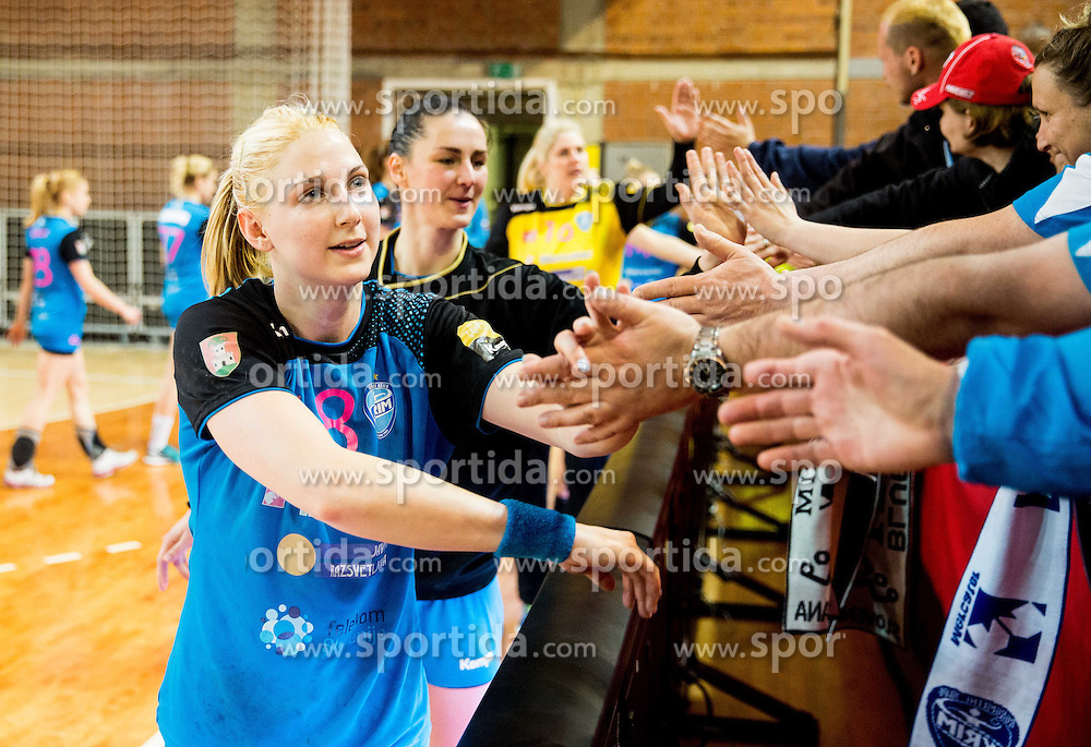 Tamara Mavsar of Krim after the 2nd Leg handball match between RK Krim Mercator and HC Lada Togliatti (RUS) in Semifinal of Women Cup Winners' Cup 2015/16, on April 9, 2016 in Arena Kodeljevo, Ljubljana, Slovenia. Photo by Vid Ponikvar / Sportida
