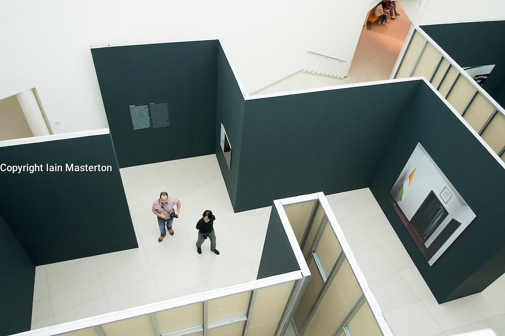 Interior of Museum of Modern Art in Frankfurt Germany