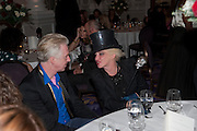 PHILIP TREACY,; URSULA FLANERY;  , Liberatum 10th Anniversary dinner in honour of Sir Peter Blake. Hosted by Pable Ganguli and Ella Krasner. The Corinthia Hotel, Whitehall. London. 23 November 2011.