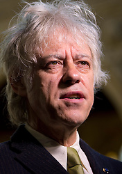 © London News Pictures. 16/09/2013 . London, UK.   Singer and Songwriter SIR BOB GELDOF speaks to the media following a photocall after he received the freedom of The City of London, in recognition of his services to the music industry.  Photo credit : Ben Cawthra/LNP