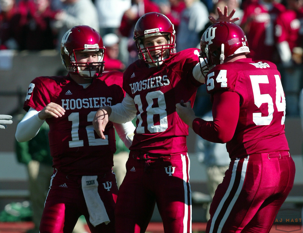 28 October 2006:  Indiana kicker Austin Starr (18) as  the Indiana Hoosiers beat the the Michigan State Spartans 46-21 in college football in Bloomington, Ind.