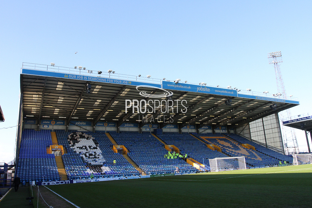 Fratton Park Football Stadium before The FA Cup match between Portsmouth and Aldershot Town at Fratton Park, Portsmouth, England on 9 November 2014.