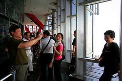 CHINA SHANGHAI PUDONG 24MAY10 - Tourists on the viewing platform of the Jinmao tower in Pudong, Shanghai...jre/Photo by Jiri Rezac..© Jiri Rezac 2010