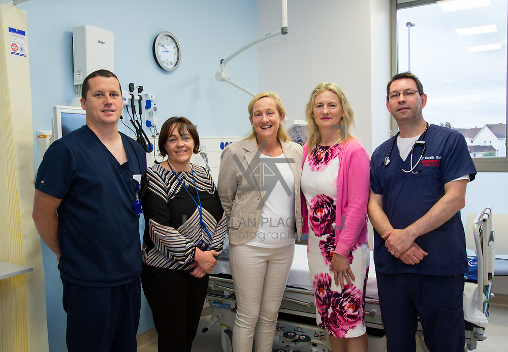 29.05. 2017.                                             <br /> IRELAND&rsquo;S largest and most advanced Emergency Department has opened this Monday at University Hospital Limerick.<br /> <br /> Pictured are Tom Moloney, Bridget Hoctor, Mairead Cowan, Paula Cussin Murphy and Dr.Gareth Quin.<br /> <br /> A &euro;24 million project (development and equipment costs), the ED spans 3,850 square metres of floor space, over three times the size of the old department. In 2016, UHL had the busiest ED in the country, with over 64,000 attendances. Picture: Alan Place