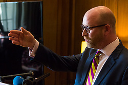 Westminster, London, March 27th 2017. Ahead of the Prime Minister triggering Article 50 next week, UKIP Leader Paul Nuttall sets out six key tests by which the country can judge Theresa May's Brexit negotiations in a keynote speech in London. PICTURED: Paul Nuttall. CREDIT: &copy;Paul Davey<br /> <br /> &copy;Paul Davey<br /> FOR LICENCING CONTACT: Paul Davey +44 (0) 7966 016 296 paul@pauldaveycreative.co.uk