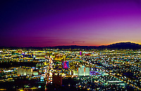 Looking south on the Strip (Las Vegas Boulevard) from the Stratosphere Tower, Las Vegas, Nevada USA