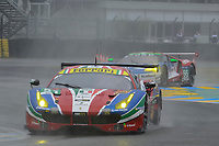 Gianmaria Bruni (ITA) / James Calado (GBR) / Alessandro Pier Guidi (ITA)  #51 AF Corse Ferrari 488 GTE,  during Le Mans 24 Hr June 2016 at Circuit de la Sarthe, Le Mans, Pays de la Loire, France. June 18 2016. World Copyright Peter Taylor/PSP. Copy of publication required for printed pictures.  Every used picture is fee-liable. http://archive.petertaylor-photographic.co.uk