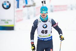Roman Yeremin (KAZ) in action during the Pursuit Men 12,5 km at day 8 of IBU Biathlon World Cup 2018/19 Pokljuka, on December 9, 2018 in Rudno polje, Pokljuka, Pokljuka, Slovenia. Photo by Urban Urbanc / Sportida